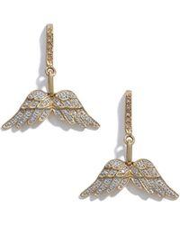 Sheryl Lowe - Pavé Diamond Wing Earrings - Lyst