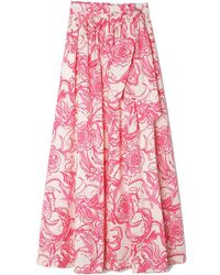goop x Lilly Pulitzer - Lilly Maxi Skirt - Lyst