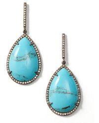 Sheryl Lowe - Mexican Turquoise Teardrop Earrings - Lyst