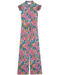 LaDoubleJ - Floral Flutter-sleeve Jumpsuit - Lyst