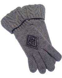 Chanel | Grey Cashmere Embellished Cc Logo Gloves | Lyst