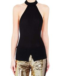 Sass & Bide - Enduring Light Black Halter Top - Lyst