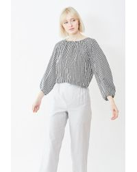 Tomorrowland - Cropped Gather Blouse - Lyst