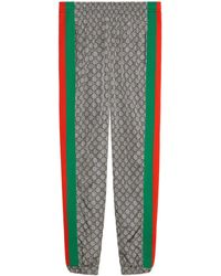 Gucci - Pantalon de jogging oversize en nylon GG - Lyst