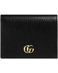 c26a92f74ef Lyst - Gucci Soho Leather Zip-around Disco Wallet in Black