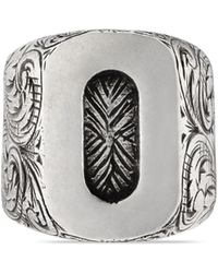Gucci - Letter O Ring In Silver - Lyst