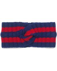 Gucci - Bandeau en laine détail bande Web - Lyst