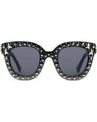 Gucci - Katzenaugen-Sonnenbrille aus Azetat mit Sternen - Lyst