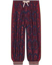 Gucci - Pantalone harem bimateriale - Lyst