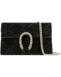Gucci Sac super mini Dionysus en velours GG - Noir
