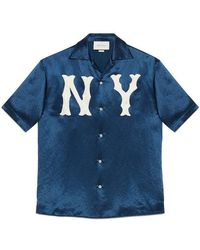 Gucci - Bowling Shirt With Ny Yankeestm Patch - Lyst