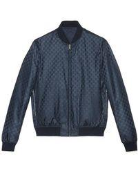 Gucci - Reversible GG Jacquard Nylon Bomber Jacket - Lyst