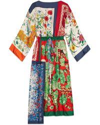 Gucci - Kaftano con patchwork di foulard - Lyst
