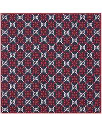 Gucci - GG Diamond Silk Pocket Square - Lyst