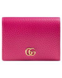 Gucci - Porte-cartes en cuir - Lyst
