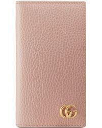 Gucci - Étui-portefeuille pour iPhone 7/8 GG Marmont - Lyst
