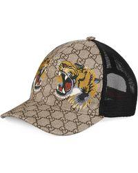 e141c197955 Gucci - Tigers Print GG Supreme Baseball Hat - Lyst