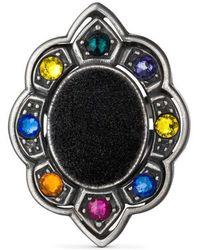 Gucci - Ring With Velvet And Crystals - Lyst
