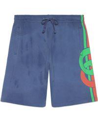 Gucci - Shorts mit GG Print - Lyst