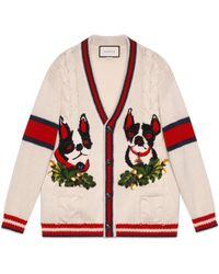 Gucci - Womens Cardigan With Orso And Bosco - Lyst