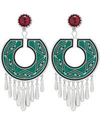 Gucci - Garden Geometric G Earrings - Lyst
