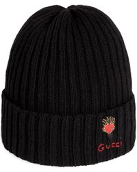Gucci - Cappello in lana con cuore trafitto - Lyst 3c00f4640185