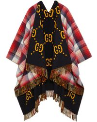 Gucci - Reversible GG Wool Poncho - Lyst