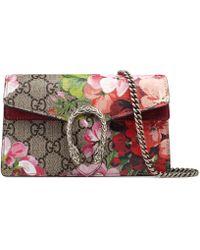 Popolare Gucci - Mini borsa Dionysus con stampa GG Blooms - Lyst 8bd204eda763
