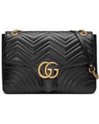 Gucci - Bolso de Hombro GG Marmont Grande - Lyst