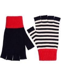 Gucci - Cotton Fingerless Gloves - Lyst
