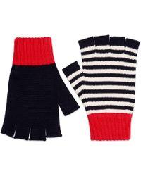 Gucci - Fingerlose Handschuhe aus Baumwolle - Lyst