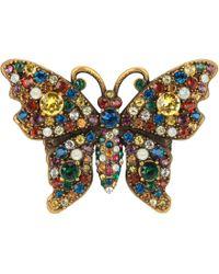Gucci - Bague papillon en métal avec cristaux - Lyst