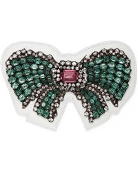 Gucci | Ace Crystal Bow Patch | Lyst