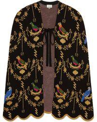 Gucci - Cape en laine à jacquard Volière - Lyst