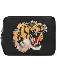 Gucci - Techno Canvas Tablet Case With Embroidery - Lyst