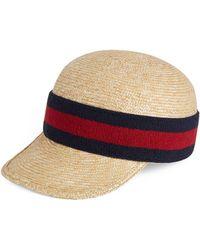 38463ede49e Gucci Knit Wool Web Hat in Black for Men - Lyst