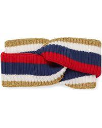 b1f74744889 Gucci - Sylvie Web Wool Headband - Lyst