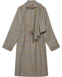 Gucci Manteau en laine avec foulard amovible