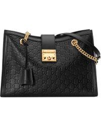 Gucci - Padlock Signature Medium Shoulder Bag - Lyst