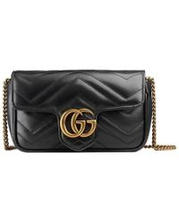 Gucci - Supermini Gg Marmont 2.0 Matelassé Leather Shoulder Bag - Lyst