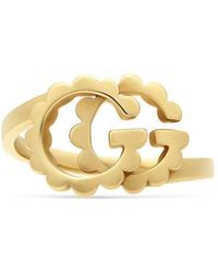 Gucci - Double G Yellow Gold Ring - Lyst