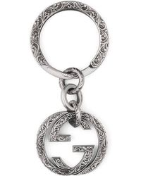 Gucci - Interlocking G Key Ring - Lyst