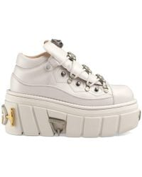 2d7328f4256 Gucci - Leather Platform Sneakers - Lyst
