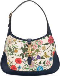 Gucci - Mittelgroße Jackie Hobo-Tasche mit Flora - Lyst