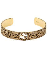 db0328bdc Gucci Bracelet In Silver With Cross in Metallic for Men - Lyst