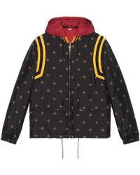 Gucci - Bee Star Jacquard Nylon Jacket - Lyst