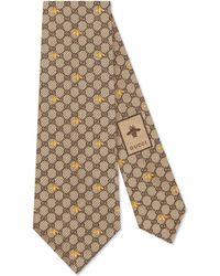 Gucci - GG Bees Silk Tie - Lyst