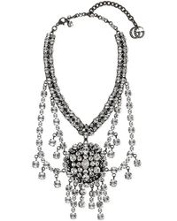 Gucci - Metal Necklace With Crystals - Lyst