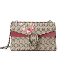 Gucci - Dionysus Small Gg Blooms Shoulder Bag - Lyst
