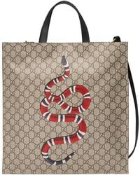 aba0f241272 Lyst - Gucci Flora Snake Print Duffle in Green for Men